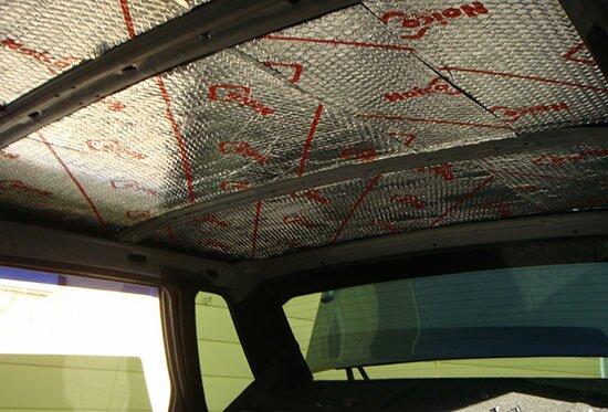 Шумо- и виброизоляция потолка ВАЗ 2115