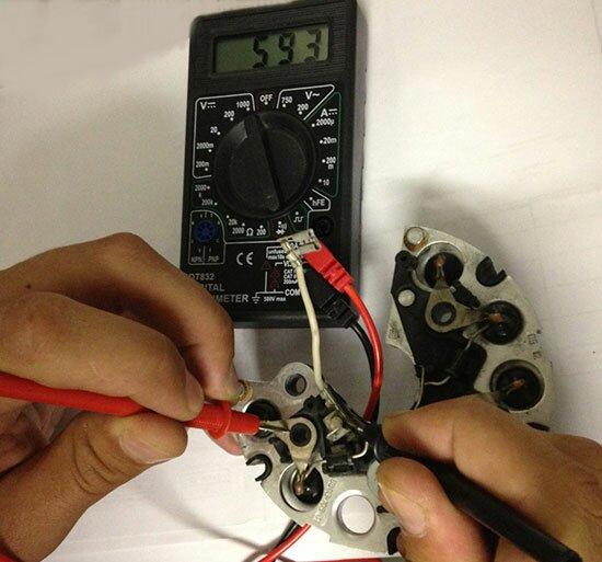 Как проверить диодный мост генератора ВАЗ в домашних условиях