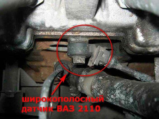 Расположение датчика детонации ВАЗ 2110