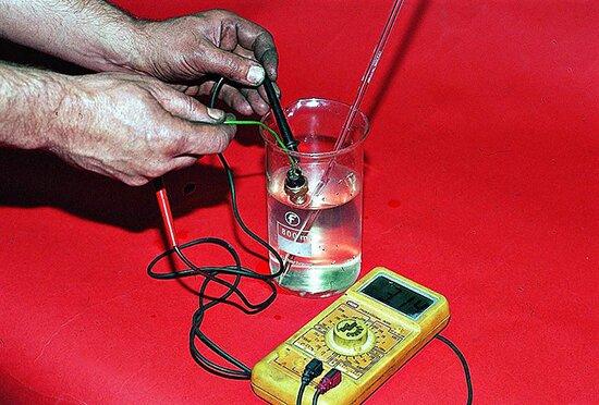 Проверка датчика включения вентилятора ВАЗ