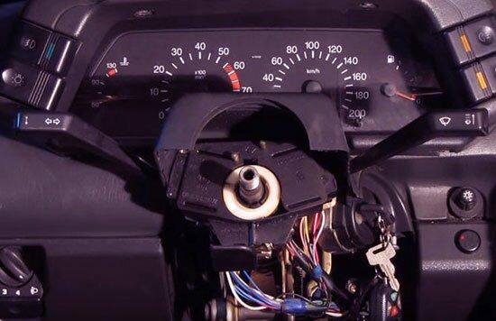 Рулевое колесо снято