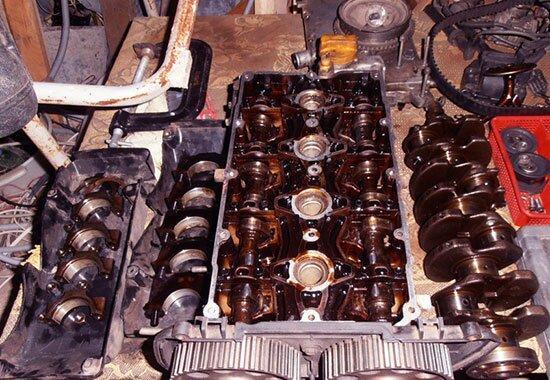промывка двигателя в разобранном состоянии